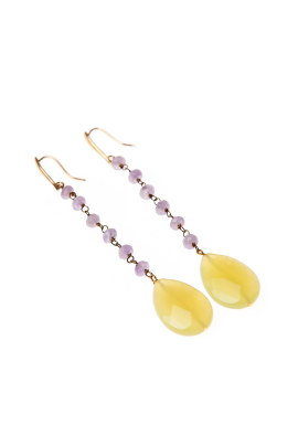 Brass Crystal Earrings-1