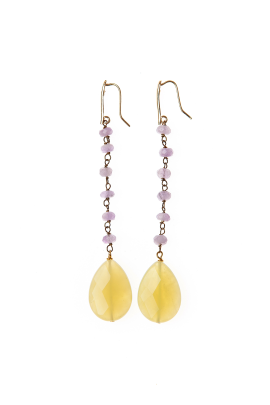 Brass Crystal Earrings-0