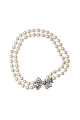 Pearl Rhinestone with Bow-2