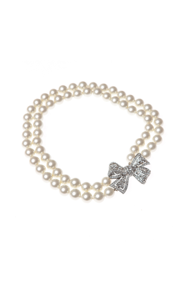 Pearl Rhinestone with Bow-0