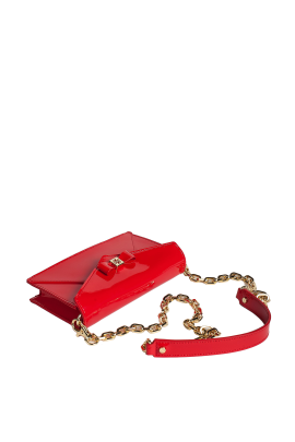Clear Red Leather Bag-3