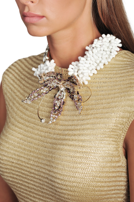 White Rhinestone Necklace-1