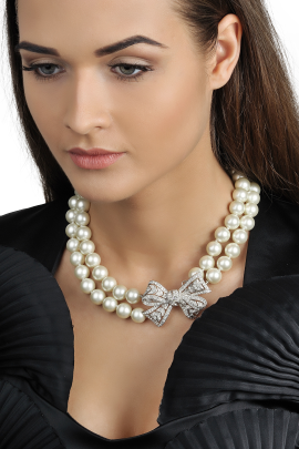 Pearl Rhinestone with Bow-1