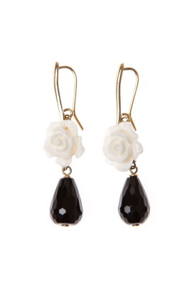 White Rose Earrings-0
