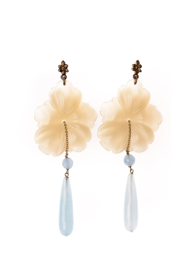 Ivory Flower Earrings-0