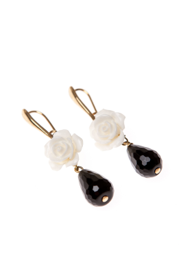 White Rose Earrings-2