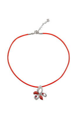 Asimetric Flower Necklace-0