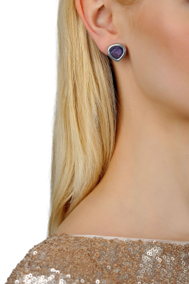 Purple Drop Earrings-1