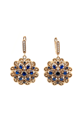 Golden Violets Earrings-0
