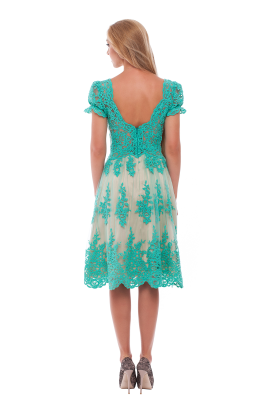 Vine Green Lace Dress -2