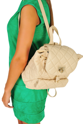 Quilted Leather Backpack-1