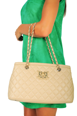 Sand Quilted Bag-1