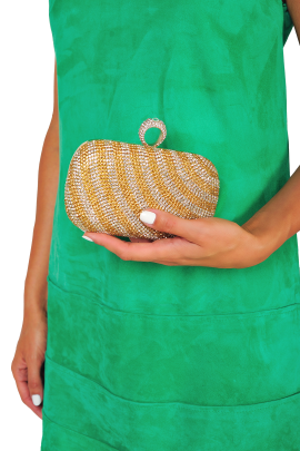 Gold Stripe Classic Clutch-1
