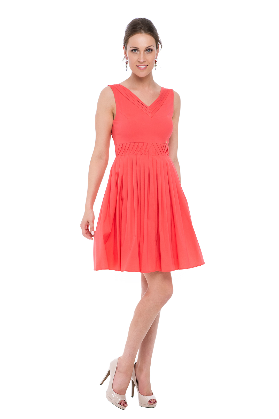 Coral Pink Frilled Dress