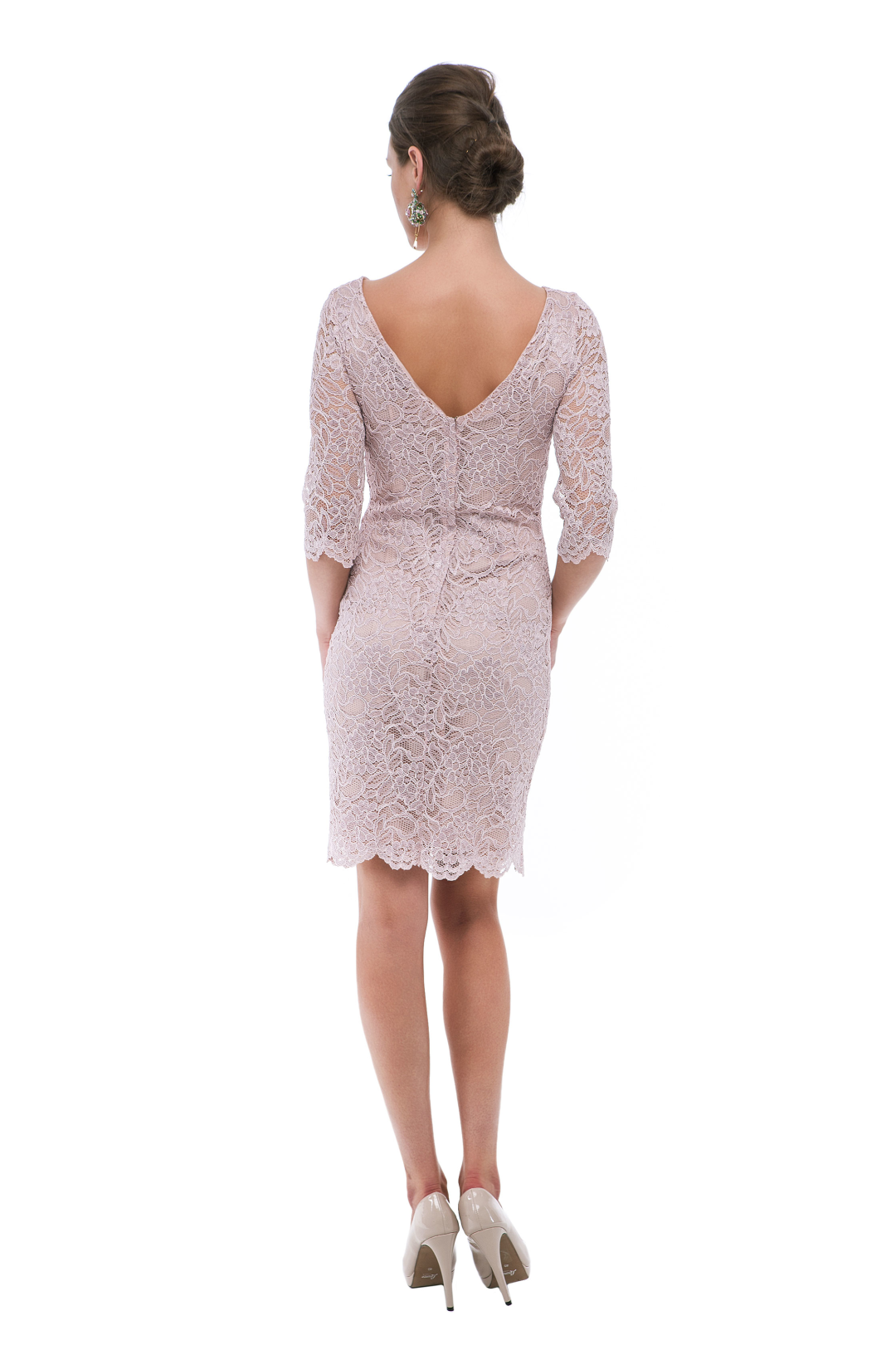 eed40b45dfe6b RENT BOUTIQUE / Pink Poema In Lace Dress