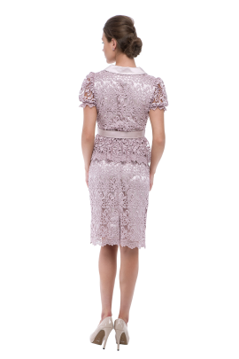 Lilac Silk Embroidered Skirt-2