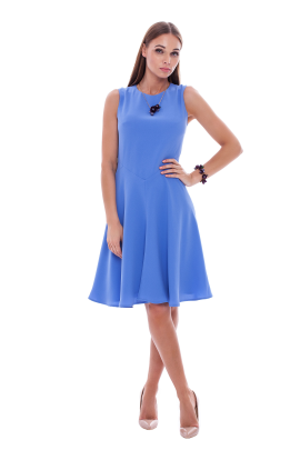 Light Blue Crepe Dress / VILNIUS-1