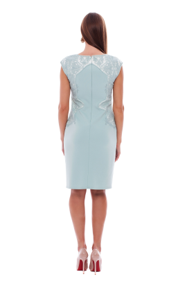 Frosted Jade Neoprene Dress-2