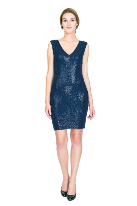 Navy Sequin Dress-1