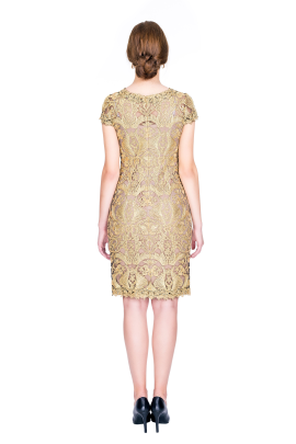 Golden Embroidery Dress -2