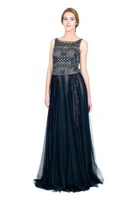 Embellished Tulle Gown-1