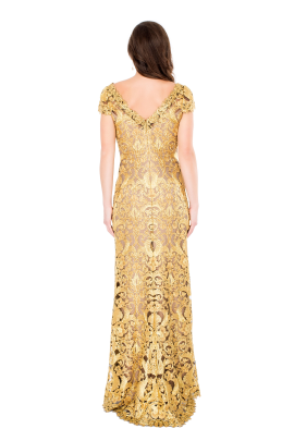 Golden Embroidery Gown-2