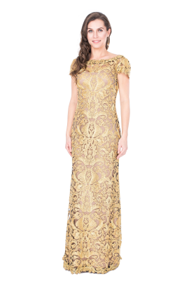 Golden Embroidery Gown-0