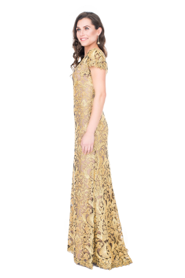 Golden Embroidery Gown-1