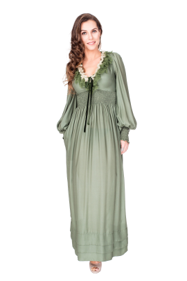 Forest Green Maxi Dress-0