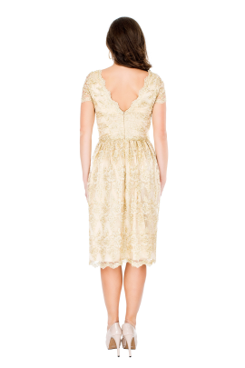 Golden Viola Dress-2