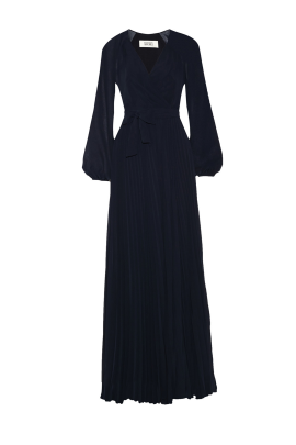 Navy Wrap Gown -0