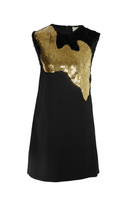 Sequin Wool Mini Dress/VILNIUS-0