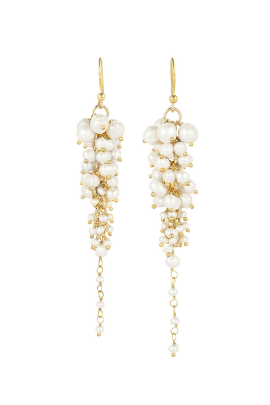 Bravi Gold Pearl Earrings-0