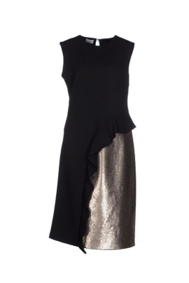 Black and Gold Sequin Dress -0