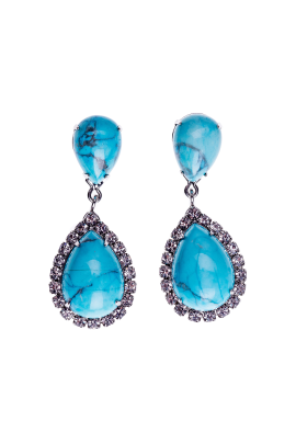 Swarovski Turqoise Earrings-0