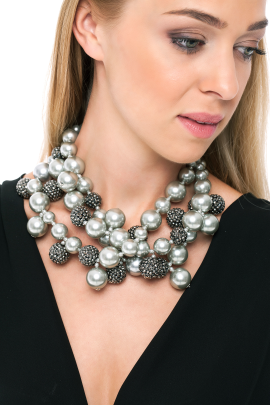 Silver Pearl Necklace-1