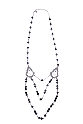 Black And Silver Elegance Necklace-0