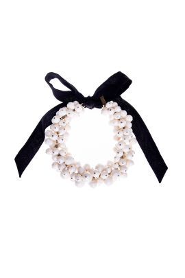 Ivory Orb Necklace -0