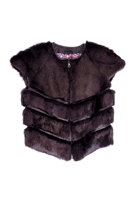 Brown Short Sleeved Fur-0