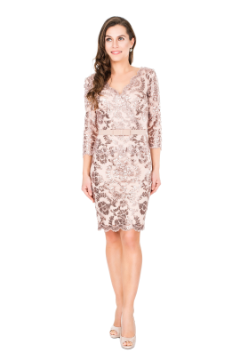 Rose Pailette Dress / VILNIUS-0
