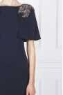 Navy Top Coat Gown / VILNIUS
