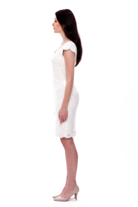 White Paillete Dress-1