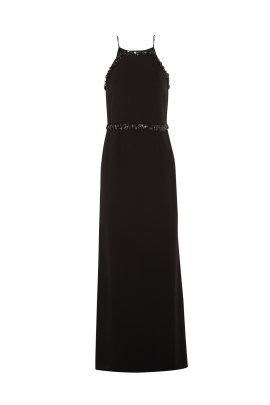 Embellished Crepe Gown-1