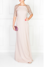 * Metallic Crepe Gown