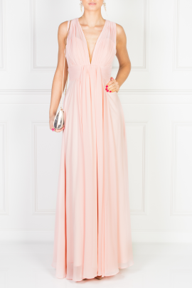 Flowing Pink Maxi Dress-0