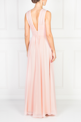 Flowing Pink Maxi Dress-2