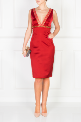 Scarlett Satin Dress-1