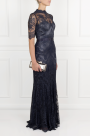 Silk-trimmed Lace Gown