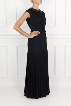 Pleated Silk- Crepe Gown / VILNIUS-2