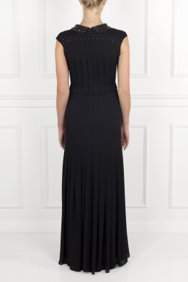 Pleated Silk- Crepe Gown / VILNIUS-3